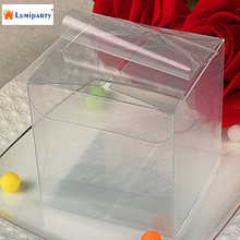 LumiParty Wholesale 25PCS /Pack Square Clear PVC Plastic Boxes 5x5x5cm  for Wedding Party Gift Favor Candy Package