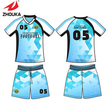 100% polyester 2016 Soccer uniform Customizing Full Sublimation technology Suit