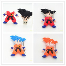 Wholesale cartoon Dragon Ball u disk Goku Monkey King Kuririn usb flash drives 4GB 8GB 16GB 32GB flash drive 64g pen drive(China)
