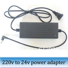 5.5mm 2.1mm plug 220V to 24V 5A 120W dc adaptor switching power supply adapter(China)