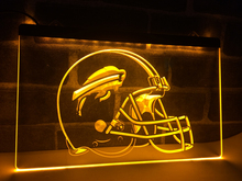 LA232- Buffalo Bills NEW Helmet Bar LED Neon Light Sign home decor crafts(China)