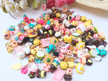 Free Shipping DIY Scrapbooking Phone Case Decorative Craft s Cute Miniature Artificial Fake Food Resin Cabochons 15pcs