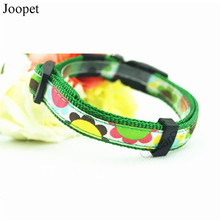 2016 Spring Green Flower Printed Woven Nylon dog Collar and Leash Pet Dog Collar Leash New Designer Pet Products Supplies