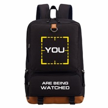 Person of Interest  YOU ARE BEING WATCHED backpack teenagers Men women's Student School Bags travel Shoulder Bag Laptop Bags