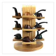 Smoker 12 Seat Wooden Color Tobacco Pipe Holder Rosewood Smoking Pipe Stander Pipe Rack Best Gift for men YDJ30