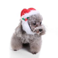 Pet Cat Dog Christmas Costume Hats Warm Winter Hat For Dog Pet Santa Claus Costume Hat Grooming Accessories(China)