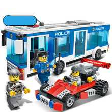 256Pcs Police Station Building Blocks Bricks Educational Toys Compatible with Legoe city Birthday Gift Toy Brinquedos for boy