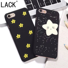 LACK Best Gift Smile Twinkle Stars Phone Cases For iphone7 Coque For iPhone 7 7Plus Hard PC Black Back Cover Capa Fundas