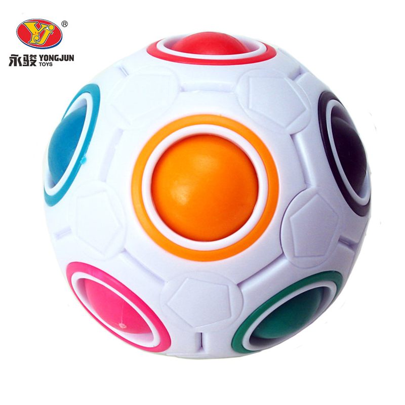 Yongjun Magic Ball Football Speed Professional Magic Cube Puzzle Cubes Educational Fidget Cube Toys Children Gifts