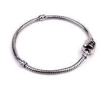 Classic Silver Plated Snake Chain Bracelet & Bangle 17CM-20CM Base chain Pulseras Bare chain For DIY bracelets JD1709