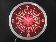 nc0149 Red Hot Chili Peppers Rock Band Neon Sign LED Wall Clock