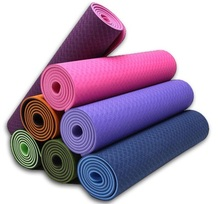 TPE environmental 8mm yoga mat 183*61*0.8cm double color high quality beautiful color many colors accept whosale order(China)