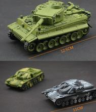 4D Assemble 1:72 German World War II tiger type leopard assault tiger assembly mini tank model children toy birthday gift 1pc