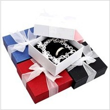 Wholesale Assorted Colors Jewelry Sets Box Necklace Earrings Ring Box 3.1*7.6 Packing Gift Box Wholesale Price 131(China)