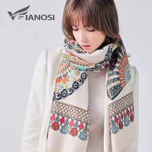 VIANOSI Fashion Winter Scarf Women Female Wool Printing Shawl Top Quality Cashmere Studios Warm Woman Wraps Brand Cape VA233(China)
