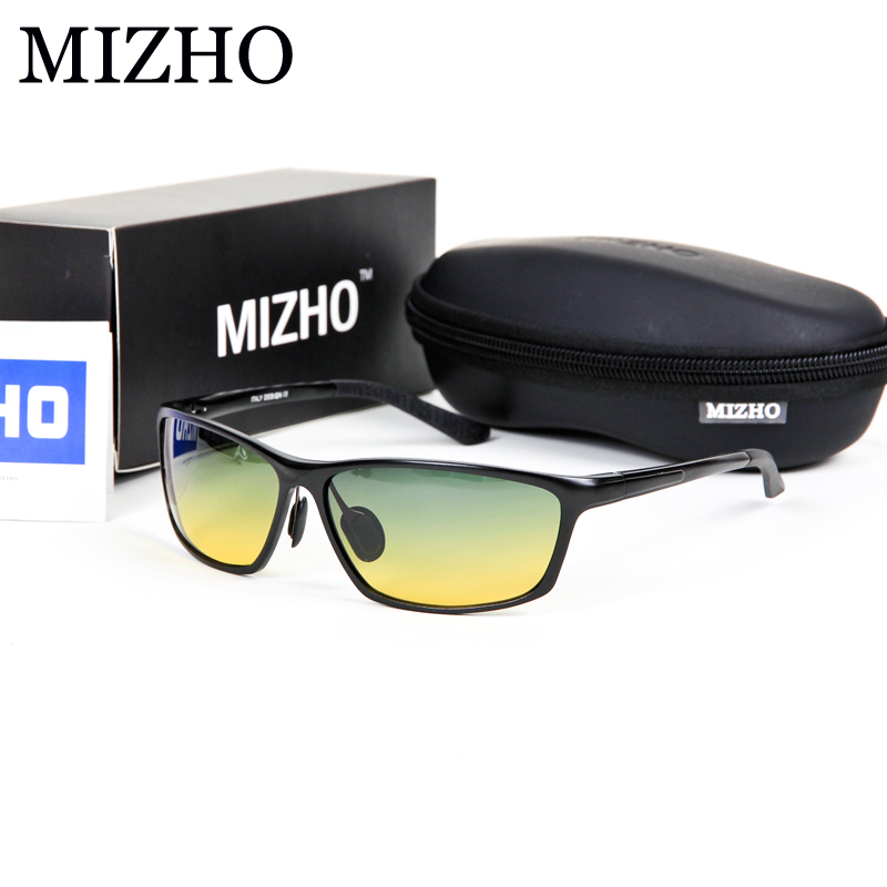 MIZHO High Quality Aluminium Frame Day Use Drivers Car Security To Protect Eyesight Yellow Men Sunglasses Night Driving<br><br>Aliexpress