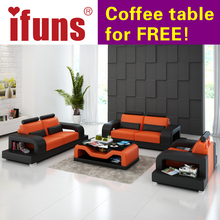 IFUNS sofa set living room furniture, modern leather sectional sofa,luxury sofa sets