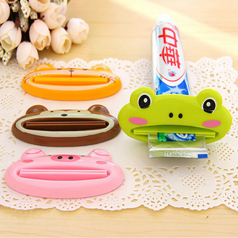 Animal Shape Bathroom Home Tube Rolling Holder Squeezer Toothpaste Dispenser Toothbrush Holders Multifunction Tube Dispenser Hot(China (Mainland))