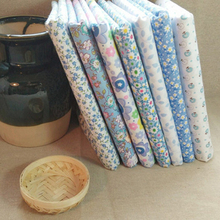 100% Blue  Cotton Fabric fat quarters for Sewing Tilda Doll Cloth DIY Quilting Patchwork Tissue Textile 7 pcs/lot 50cmx50cm B7