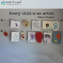 2017 New Every Child is an Artist Vinyl Wall Decal MEDIUM Sticker Wall Decals For Kids Children Room Decor Size 76*6cm