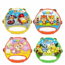 Hot sale toddler toys cute cartoon baby tambourine toys kawaii shaking drum baby educational toys kids musical instruments