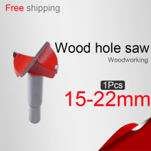 15/16/18/19/20/22mm Wood Hole saw  Lock hole Hinge reamer  Wood drilling Woodworking Core drill bit  Woodworking knife