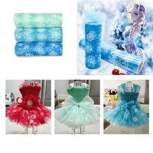 Buy Snowflake Tulle Roll 15cm 10Yards Spool Tutu Gift Wrap Wedding Decoration Birthday Party Baby Shower Supplies Party Favors.Q for $2.30 in AliExpress store