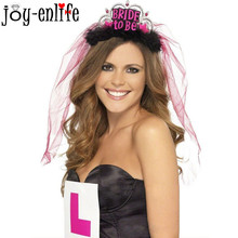 JOY-ENLIFE 1pcs Bride to be Veil Bridal Crown wedding  Accessories Bachelorette Party Hen Party Supplies Wedding Favors Gifts