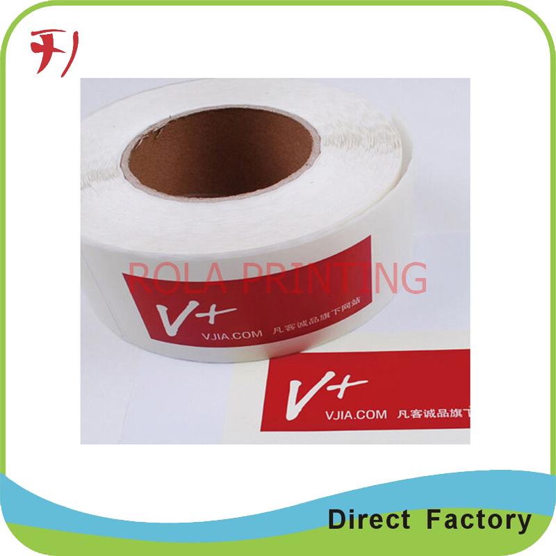 Oem printing high quality custom vinyl roll label stickers adhesive glossy finish logo labels