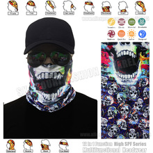 TRACKABLE SHIPPING Outdoor Sport Seamless Microfiber Tube Headwear Neckwear Motorcycle Face Shield Multi Skull Bandana Headband(China)
