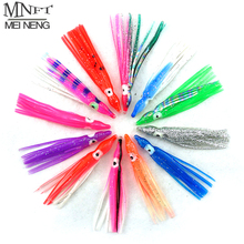 MNFT 12pcs 5&6cm Soft Rubber Squid Skirt Bionic Bait Fishing Tackle Sea Fishing Octopus bait Threads Skirts Soft Lures Mix Color