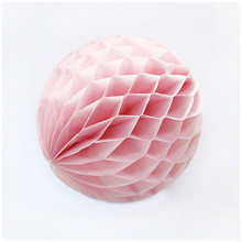"12pcs 6"" Light Paper Honeycomb DIY Party Wedding Decoration Ball Pastel Flower Birthday Baby Shower Holiday Party Decorations(China)"