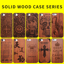 4 4.7 5.5 inch Solid Wood Laser Engraving Luxury Design Gifts for Mobile Phone Dress Uniuqe Cases for iphone 6 6S 7Plus 5 5S SE