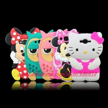 For Samsung Galaxy J7 Hot 3D Silicon Minnie Smile Hello Kitty Owl Soft Phone Back Skin Case Cover for Samsung Galaxy J7 J700(China)