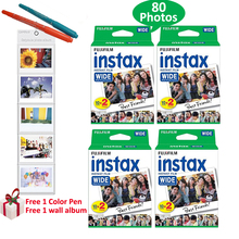 Genuine Fujifilm Instax Wide Film 80 Photots White Film For Fuji Instant Polaroid Photo Camera 300 200 210 100 + Free Gifts(Hong Kong)
