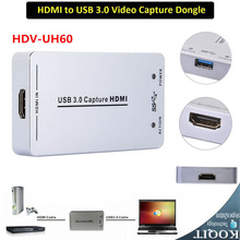 HDV-UH60 Full HD 1080P Small HDMI Capture Device to USB 3.0 Video Audio Capture Card Device Dongle Adapter UVC UAC Win Linux