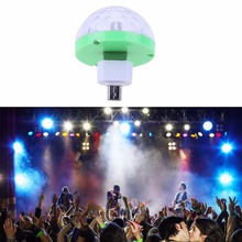 Mini LED Stage Light LED Disco Ball 4 LED USB Powered Stage Disco Ball Effect RGB Bulb Lamp for KTV DJ Party(China)