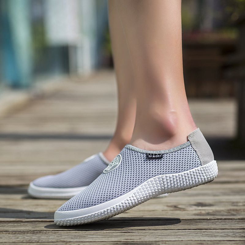Breathable Light Weight Zapatillas Hombre Spring Summer Outdoor Mens Beach Shoes Low Heel Loafers Casual Street Shoes<br><br>Aliexpress