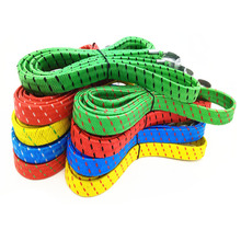 1Pcs Bicycle Bike Cycling MTB Luggage Stacking Rope Banding Bungee Elastic Cord Strap Tie Fixed Band Hook Color Random(China)