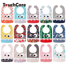 Big Eye Monster With Cute Teeth Design Baby Bibs Soft Infant Saliva Towel Toddler Absorbent Bandana Dribble Feed Care Burp Cloth