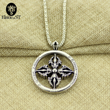 Viking Series Crown Cross Necklace Retro Silver Plated Pendant Roman Numeral Chain Necklaces & Pendant for Women and Men(China)