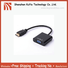 Free shipping Generic HDMI Male to VGA Female Adapter Video Converter For PC Laptop NoteBook HD DVD  New