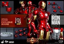 "HOT TOYS Diecast Iron Man Mark III Tony Stark 12"" Figure Special VIP Edition"