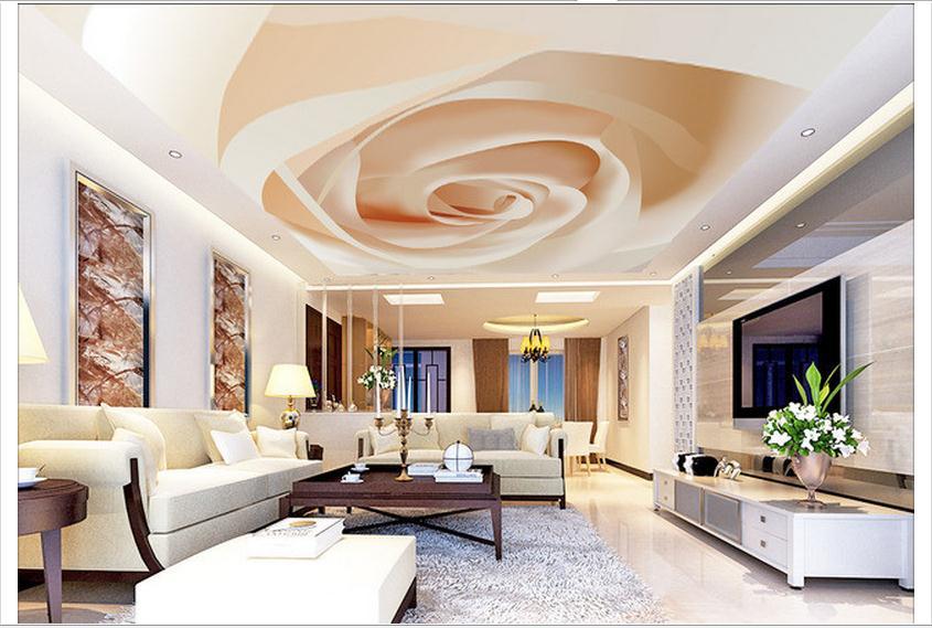 3d photo wallpaper custom 3d ceiling wallpaper murals simple atmospheric vector rose ceiling frescoes murals room decoration<br><br>Aliexpress