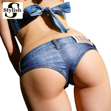 Sexy Club Denim Shorts 2017 Summer Jeans Shorts Low Waist Hot Short Nightclub Pole Dancing Wear New Fashion Ladies Clothes Femme(China)