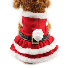 Armi store  Fur Ball Hat Dogs Christma Coats Dog Christmas Dress 6141022 Pet Festival Clothes Supplies