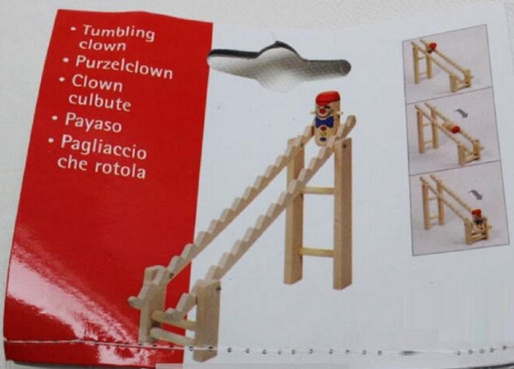 Cute High-quality wooden Clown tumbling ladder new odd wooden toys birthday gift 1 SET<br><br>Aliexpress