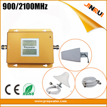 lcd display 2g 3g High gain Dual Band Booster 3g GSM Repeater ,70dbi Mobile Signal repeater 2G 3G WCDMA GSM Booster 900 /2100