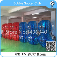 12 pcs(6 Red +6 Blue+2 Pump) New Product Inflatable Clear Bouncing Ball, Inflatable Bubble Ball Soccer Zorb Ball