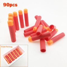 90pcs/Lot 9.5x2cm For NERF Soft Darts Bullets for N-Strike Kids Toys Gun Bullets Red Color With Whistle Sound Soft Drat Head(China)